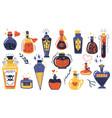 magic potions alchemist cartoon bottles with love vector image