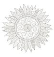 Mandala flower sunflower coloring for vector image vector image