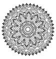 mandala lace pattern vintage round design vector image