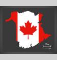 new brunswick canada map vector image