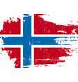 norway scratched flag vector image