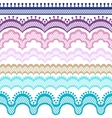 Old lace ribbons abstract ornament texture vector image vector image