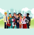 people with different occupation vector image