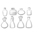 perfume and cologne bottles vector image vector image