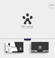 pet home or store creative logo template with vector image