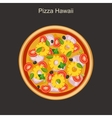 Pizza Hawaii with pineapple vector image