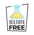 product label sulfate free isolated icon vector image