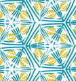 Rough brush green triangles and yellow circles vector image