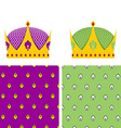 Royal Set seamless pattern for mantle and a Golden vector image vector image