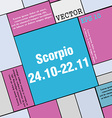 Scorpio icon sign Modern flat style for your vector image