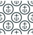 seamless pattern marine anchors vector image vector image