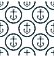 Seamless pattern of marine anchors vector image vector image