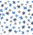 seamless pattern with hand drawn snowflakes vector image vector image