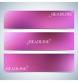 Set of horizontal multicolored backgrounds for vector image vector image
