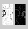 set vertical banners geometric pattern vector image