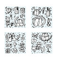 set with cute love symbols vector image vector image