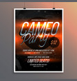 shiny flyer banner template for party music vector image vector image