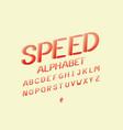 speed alphabet alphabet vector image