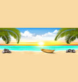 summer vacation panorama tropical beach with a vector image vector image