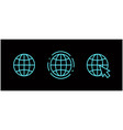 www internet connection icons vector image vector image