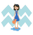 aquarius zodiac symbol vector image