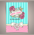 happy mothers day vintage card vector image