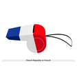 A Beautiful Whistle of The French Republic vector image