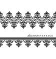 black lace border set vintage isolated on white vector image