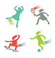 Active girls fitness sports set 1 vector image