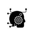 artificial intelligence black icon sign on vector image vector image