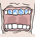 baby mouth vector image
