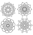 Black and white abstract lace flowers vector image vector image