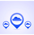 Blue Cloud Icon Set vector image