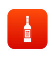 bottle of vodka icon digital red vector image vector image