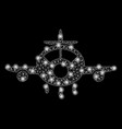 Bright mesh 2d aircraft with flash spots