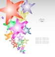 Candy stars creative background vector image vector image