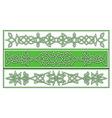 celtic patterns vector image