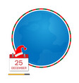 christmas greeting card with circles world vector image vector image