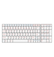 Computer Realistic White Keyboard Ioslated on vector image vector image