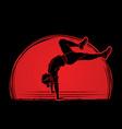 dancer practice street dance vector image