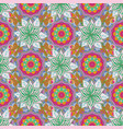 embroidery floral seamless pattern colorful vector image