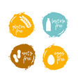 food labels - allergens food intolerance symbols vector image vector image