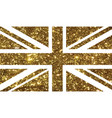 golden luxury glitter united kindom uk country vector image vector image