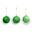 green christmas tree toy set isolated vector image vector image