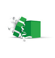 green opened present vector image