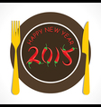 Happy new year greeting 2015 vector image vector image