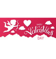 happy valentine s day papercut design template vector image