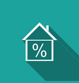 house with discount tag icon with long shadow vector image vector image
