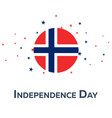independence day of norway patriotic banner vector image vector image