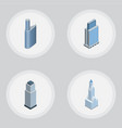 isometric construction set of tower building vector image vector image